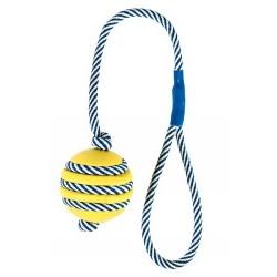 Ge bort till välgörenhet- gummiboll på rep