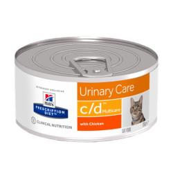Hill's Prescription Diet Feline c/d kyckling mousse (24st x 156g burk)