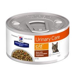 Hills Feline multicare c/d stew chicken and vegetables 85 g BURK