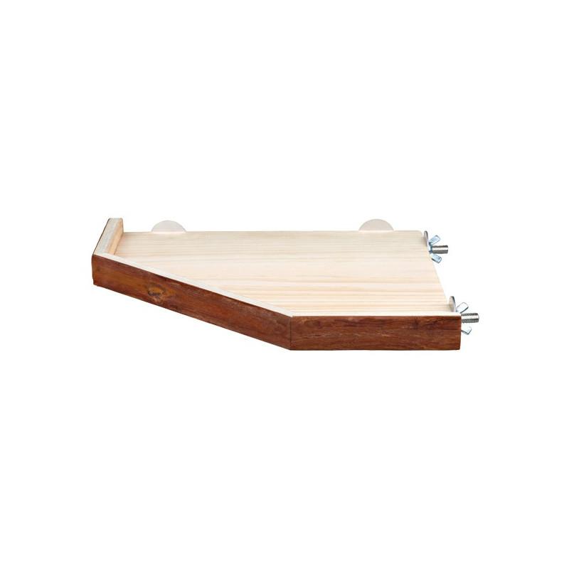 träplattform för bur 17 x 2 x 17 cm