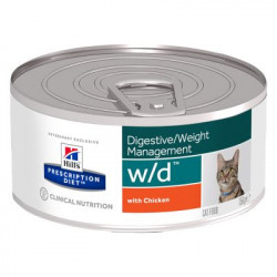 Hill's Prescription Diet Feline w/d Minced (24st x 156g burk)